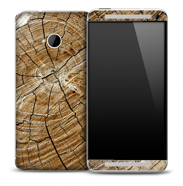 Cracked Wood Skin for the HTC One Phone
