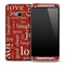 Red Love & Joy Skin for the HTC One Phone