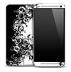 Elegant Black & White Floral Skin for the HTC One Phone