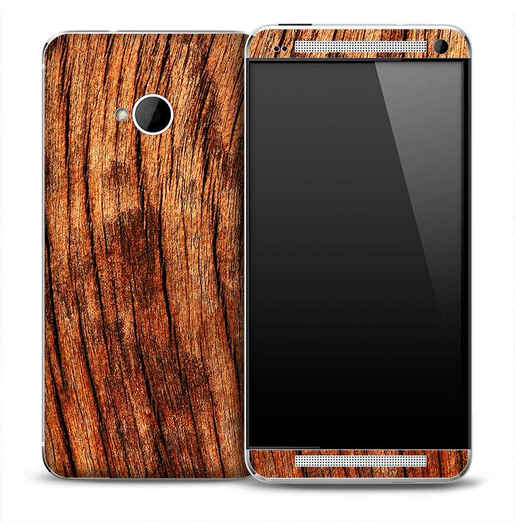 Warped Wood Skin for the HTC One Phone