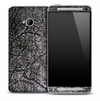 Dark Worn Fabric Skin for the HTC One Phone