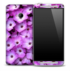 Real Purple Flowers Skin for the HTC One Phone