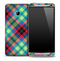 Neon Plaid Skin for the HTC One Phone