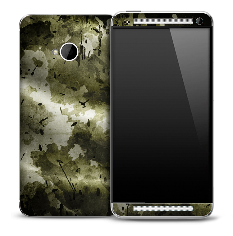 Natural Green Camo Skin for the HTC One Phone