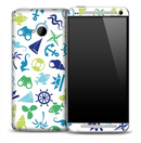 Blue & Green Sea Life Skin for the HTC One Phone