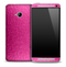 Cracked Metallic Pink Skin for the HTC One Phone