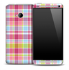 Pink & Blue Plaid Skin for the HTC One Phone