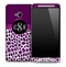 Custom Purple Leopard Monogram Skin for the HTC One Phone