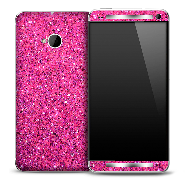 Pink Glitter Skin for the HTC One Phone