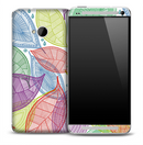 Colorful Leaf Skeleton Skin for the HTC One Phone