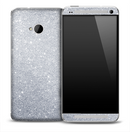 Silver Glitter Skin for the HTC One Phone