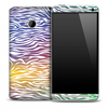 Colorful Zebra Skin for the HTC One Phone