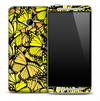 Vibrant Yellow Butterfly Skin for the HTC One Phone