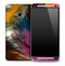 Light Colorful Feathers Skin for the HTC One Phone