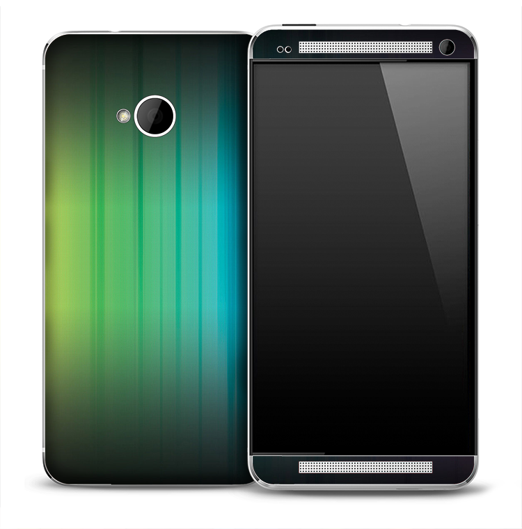 Green To Blue Fade Skin for the HTC One Phone