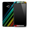 Dark Neon Beams Skin for the HTC One Phone