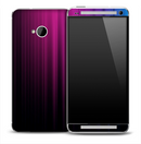 Fading Purple Streaks Skin for the HTC One Phone