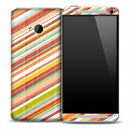 Colorful Cross Stripes Skin for the HTC One Phone