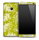 Elegant Green Floral Skin for the HTC One Phone