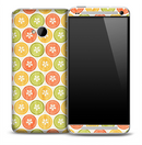 Vintage Citrus Slices Skin for the HTC One Phone