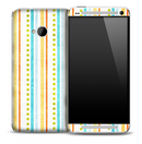 Vintage Stripes & Dots Skin for the HTC One Phone