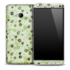 Vintage Green & Brown Flower Skin for the HTC One Phone