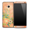 Peach Hawaiian Flower Skin for the HTC One Phone
