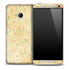 Vintage Yellow Colorful Circles Skin for the HTC One Phone