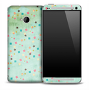 Turquoise Colorful Shapes Skin for the HTC One Phone