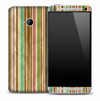 Vintage Stripes Paper Skin for the HTC One Phone