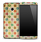 Colorful Polka Dots Paper Skin for the HTC One Phone