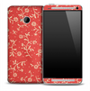 Red & Yellow Fabric Skin for the HTC One Phone