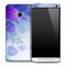Purple Flowerland Skin for the HTC One Phone