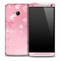 Pink Bubbly Skin for the HTC One Phone