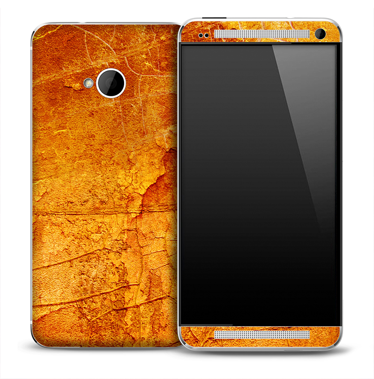 Orange Land Surface Skin for the HTC One Phone
