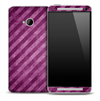 Purple Slanted Stripes Skin for the HTC One Phone
