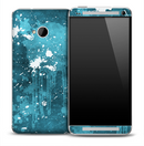 Blue Paint Splatter Skin for the HTC One Phone