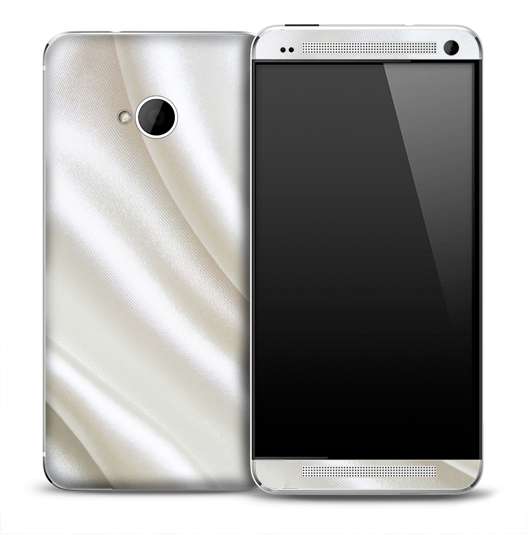 White Silky Dress Skin for the HTC One Phone