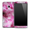 Pink Fuzzy Feathers Skin for the HTC One Phone