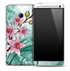Abstract Watercolor Floral Skin for the HTC One Phone