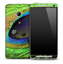 Neon Peacock Skin for the HTC One Phone