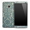 Green Lace Pattern Skin for the HTC One Phone