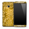 Vintage Yellow Floral Skin for the HTC One Phone