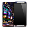 Flashing Times Square Skin for the HTC One Phone