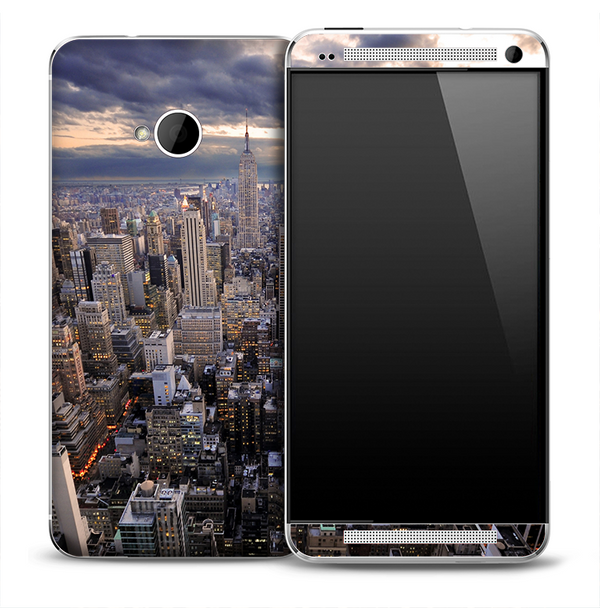 Sunset Skyline Skin for the HTC One Phone