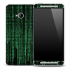 Neon Green Matrix Skin for the HTC One Phone