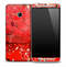 Vintage Cracked Red Skin for the HTC One Phone
