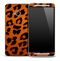 Orange Cheetah Skin for the HTC One Phone