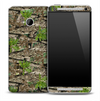 Green Wood Camoflauge Skin for the HTC One Phone