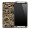 Brown Wood Camoflauge Skin for the HTC One Phone